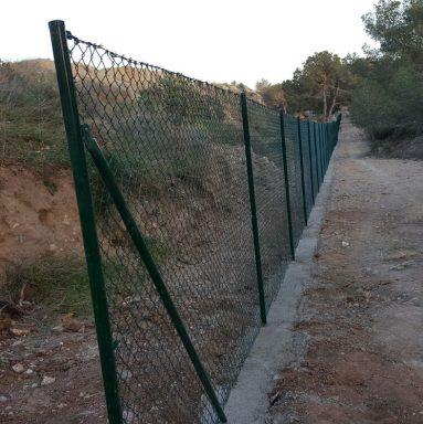 Valla de simple torsión para cierre en La Nucía